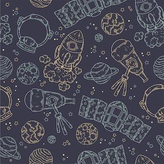 空間要素コレクションの手描きパターン
