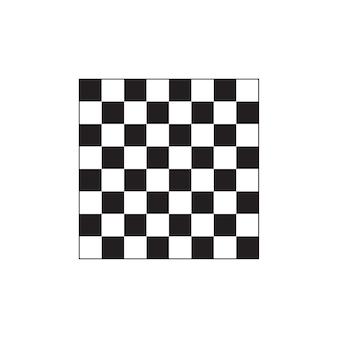 白い背景にチェス盤のアイコン。
