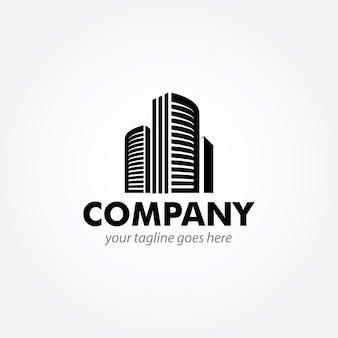 モダンな建物のロゴデザイン