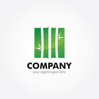 Бамбуковый дизайн логотипа