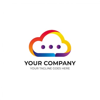 Цветное облако дизайн логотипа