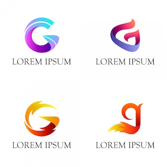 Набор из начальной буквы дизайна логотипа
