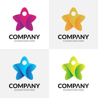 Логотип звезды + люди