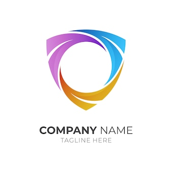Шаблон логотипа рамка щита