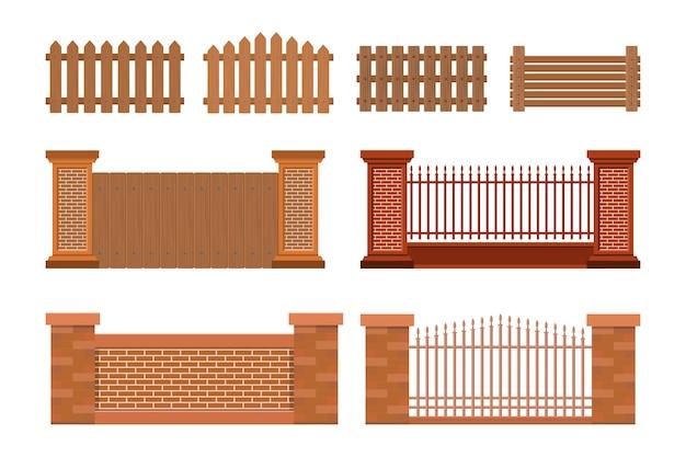 家のフェンスのベクトルイラスト