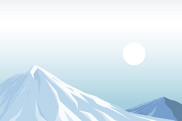 Иллюстрация снежной горы