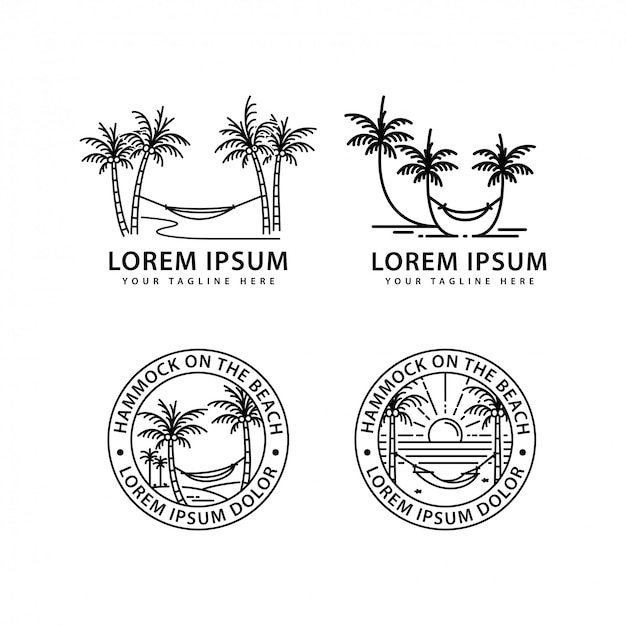 ハンモックのロゴデザイン