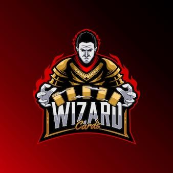 強力な魔術師のロゴのテンプレート