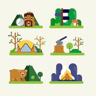 ハイキングやキャンプ