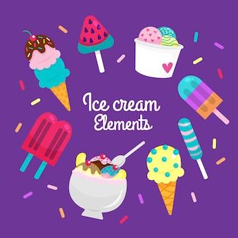 Элементы мороженого