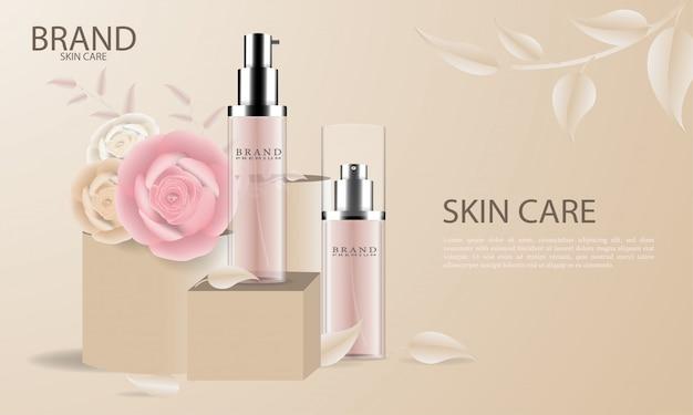 Элегантная косметическая реклама по уходу за кожей