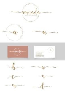 Свадебный логотип, ботанический логотип