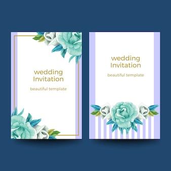 水彩の招待状カードデザイン