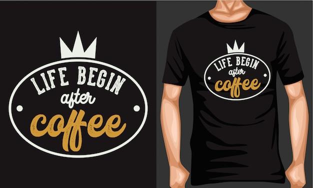 コーヒーと人生のレタリングタイポグラフィ