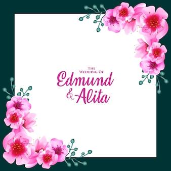 Акварель вишневый цвет цветочный орнамент фон