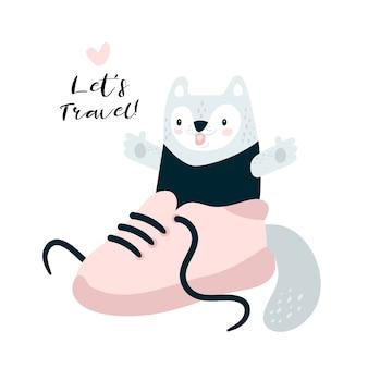 かわいい旅行キティ猫