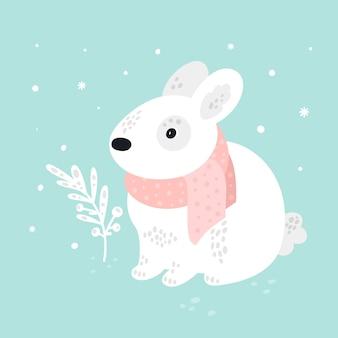 幼稚な漫画白ウサギ動物