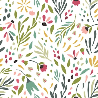 かわいい花の背景テクスチャのパターン