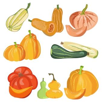 カボチャ自然食品日収穫感謝祭を設定します。
