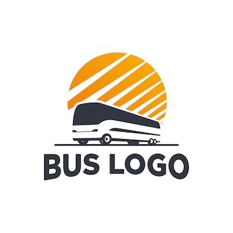 Силуэт автобуса с логотипом