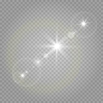 Звезды на прозрачном белом и сером фоне на шахматной доске.