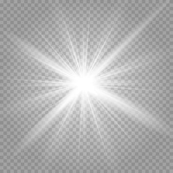 輝く星と輝くグレアの爆発