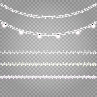 ガーランドライトが背景に分離されました。