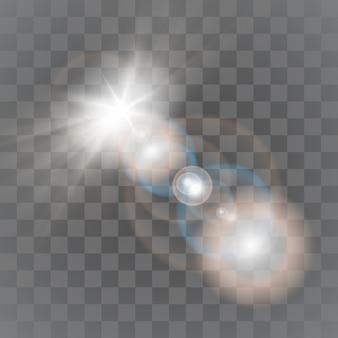 白と金の星のきらめき