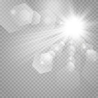 チェス盤の上の透明な白と灰色の背景上の星。