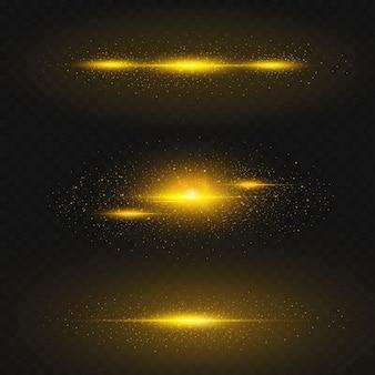 宇宙の輝く黄金の効果