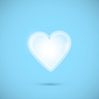 青色の背景に心の図