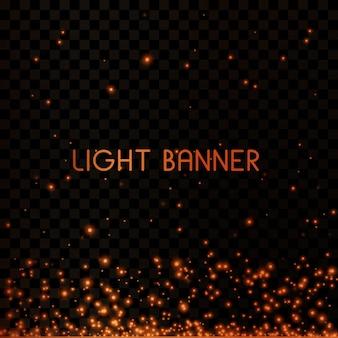 輝く魔法の塵。光と銀のきらびやかな塵粒子と星のお祝い背景。魔法の効果。