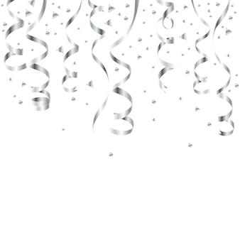 Серпантин серебро, изолированные на клетчатый фон.
