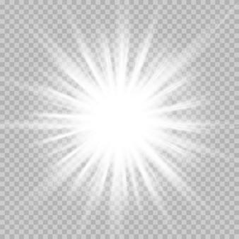 チェス盤の上の透明な白と灰色の背景上の星のセットです。
