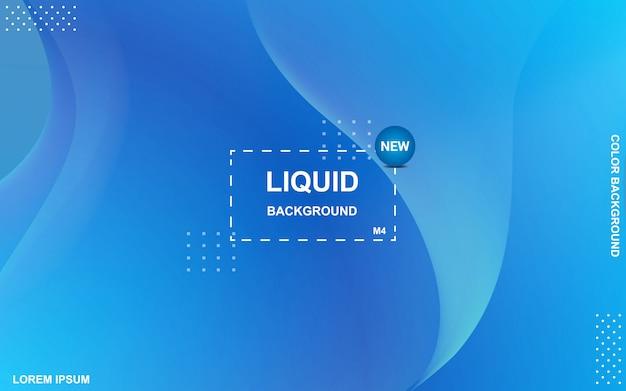 液体の色の背景デザイン