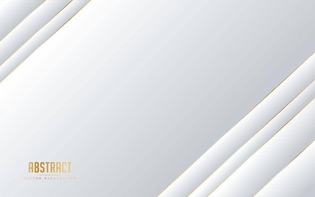 ラインの黄金色と抽象的な背景の白とグレーの色。