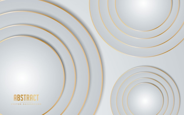 Абстрактный фон белый и серый цвет с линией золотого цвета.