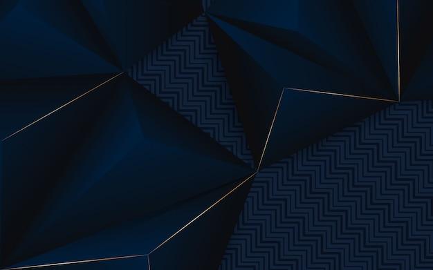 抽象的な背景の幾何学的な青と黒の色