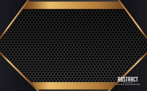 Черный и золотой абстрактный геометрический фон геометрический