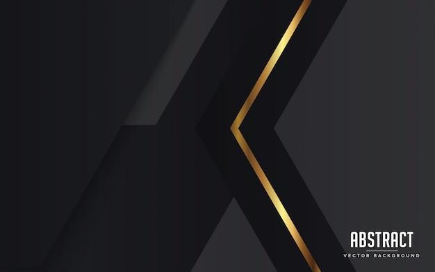抽象的な背景黒とグレーとゴールド色の現代