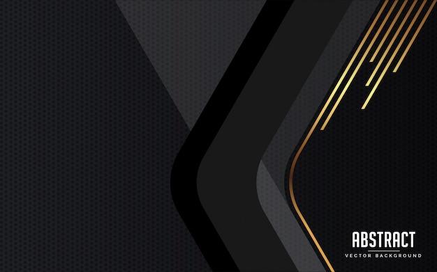 抽象的な背景の幾何学的な黒とグレーとゴールド色モダン
