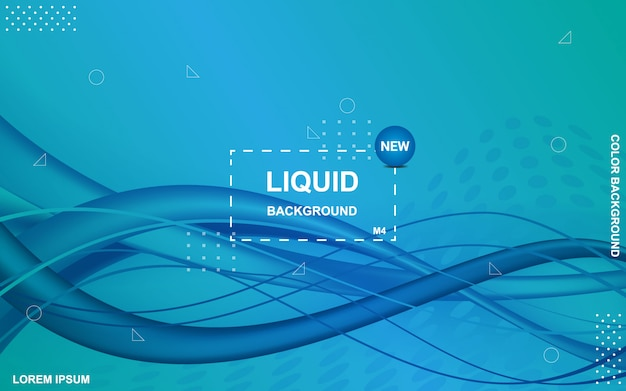 液体の色の背景流体グラデーション形状の構成