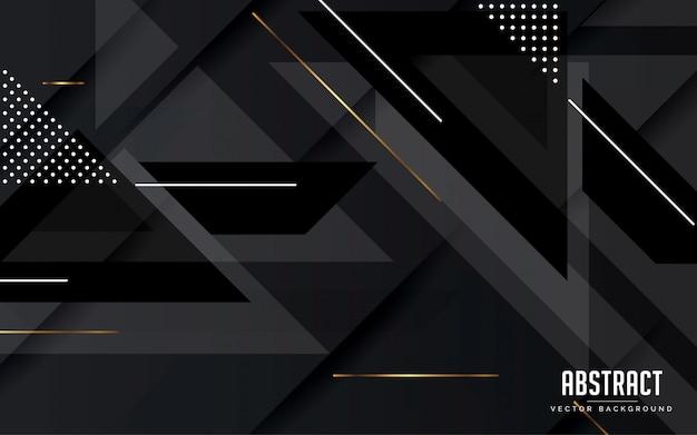 Абстрактный фон геометрический черный и серый цвет современный