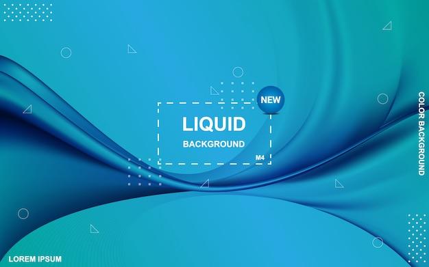 Жидкий цвет фона. жидкий градиент формирует композицию.