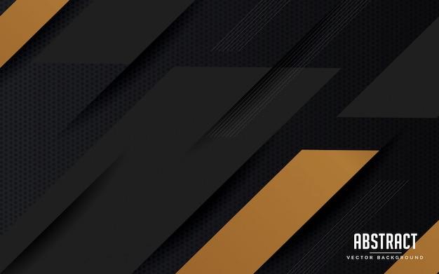 抽象的な背景の幾何学的な黒とグレーの色のモダンなデザイン