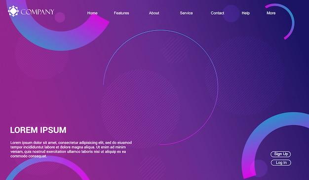 Шаблон сайта для сайтов или приложений. целевая страница минимальная, современная.