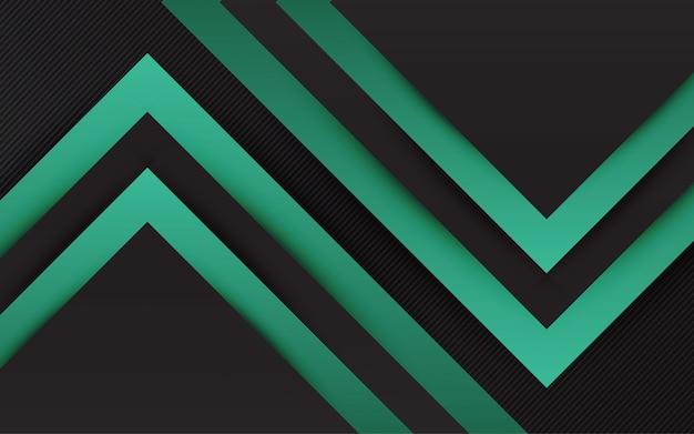 Абстрактный фон черный и зеленый цвет современный минимальный