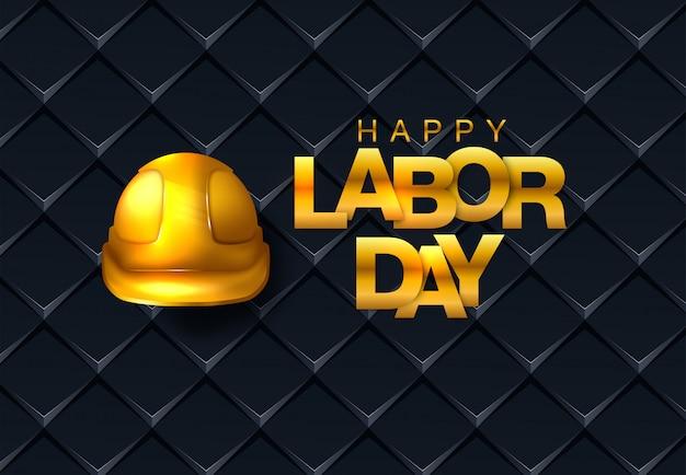 ベクトル幸せな労働者の日カード