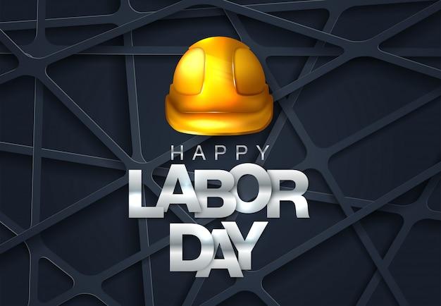 労働者の日。国際労働デー幸せな労働者の日のベクトル図