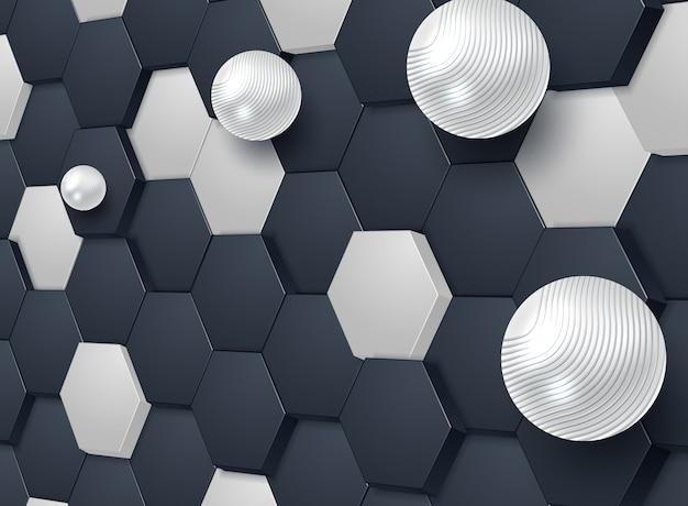 抽象的な六角形の背景